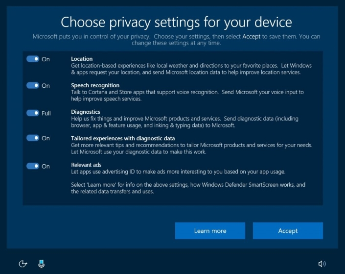 Nova podešavanja za privatnost na Windows 10 OS-u