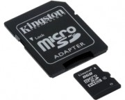 KINGSTON - MicroSDHC 8GB + Adapter SDC4/8GB