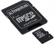 Kingston memorijske kartice - MicroSDHC 16GB class 4 + adapter SDC4/16GB