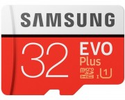 - EVO PLUS UHS-I MicroSDHC 32GB class 10 + Adapter MB-MC32GA