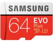 - EVO PLUS UHS-I MicroSDXC 64GB class 10 + Adapter MB-MC64GA