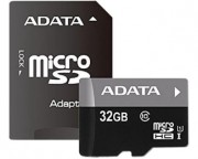 A-DATA - UHS-I MicroSDHC 32GB class 10 + adapter AUSDH32GUICL10-RA1