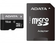 A-DATA - UHS-I MicroSDHC 16GB class 10 + adapter AUSDH16GUICL10-RA1