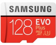 - EVO PLUS UHS-I MicroSDXC 128GB class 10 + Adapter MB-MC128GA