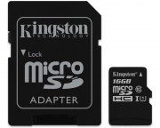 KINGSTON - UHS-I MicroSDHC 16GB 80R class 10 SDCS/16GB + adapter