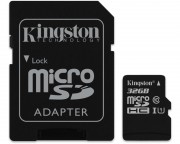 KINGSTON - UHS-I MicroSDHC 32GB 80R class 10 SDCS/32GB + adapter