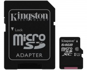 KINGSTON - UHS-I MicroSDXC 64GB 80R class 10 SDCS/64GB + adapter