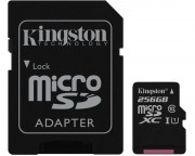 Kingston memorijske kartice - UHS-I MicroSDXC 256GB 80R class 10 SDCS/256GB + adapter Select