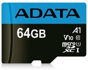 A-DATA - UHS-I MicroSDXC 64GB class 10 + adapter AUSDX64GUICL10A1-RA1