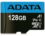 A-DATA - UHS-I MicroSDXC 128GB class 10 + adapter AUSDX128GUICL10A1-RA1