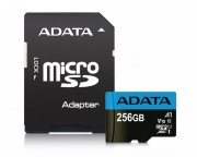 A-DATA - UHS-I MicroSDXC 256GB class 10 + adapter AUSDX256GUICL10A1-RA1