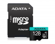 A-DATA - UHS-I U3 MicroSDHC 128GB V30S class 10 + adapter AUSDX128GUI3V30SA2-RA1