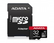 A-DATA - UHS-I U3 MicroSDHC 32GB V30S class 10 + adapter AUSDH32GUI3V30SHA2-RA1