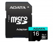 A-DATA - UHS-I U3 MicroSDHC 16GB V30S class 10 + adapter AUSDH16GUI3V30SA2-RA1