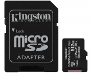 Kingston memorijske kartice - A1 MicroSDXC 512GB 100R class 10 SDCS2/512GB + adapter