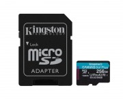 Kingston memorijske kartice - U3 V30 microSDXC 256GB Canvas Go Plus 170R A2 + adapter SDCG3/256GB