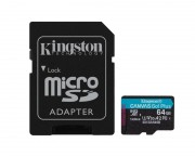 - U3 V30 microSDXC 64GB Canvas Go Plus 170R A2 + adapter SDCG3/64GB
