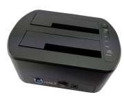 "- HDD dual Docking station USB 3.0, 2.5""/3.5""+Card reader+1xUSB3.0 HUB"