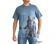 - Majica ASSASSINS CREED Connor debout muska stone blue basic L