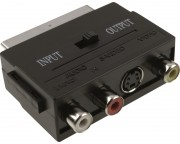 - Adapter Scart - 3xRCA + S-Video crni