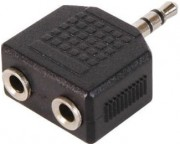 Kablovi, Adapteri - Adapter audio 3.5mm (M) - 2x3.5mm (F) crni