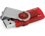 usb flash memorije - 8GB DataTraveler 101 Generation 2 USB 2.0 flash DT101G2/8GB crveni