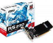- AMD Radeon R5 230 1GB 64bit R5 230 1GD3H LP